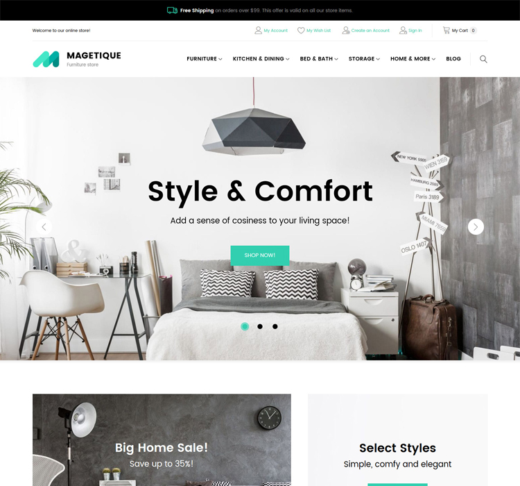 Magento Theme For Furniture Store