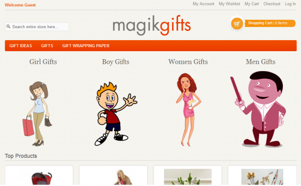 Magik Gifts Magento Theme