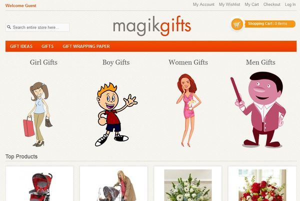 Magik Gifts FREE Magento Theme & Templates
