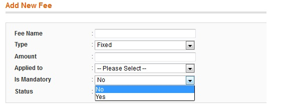 Magento Extra Fee: Optional or Mandatory Fee Creation