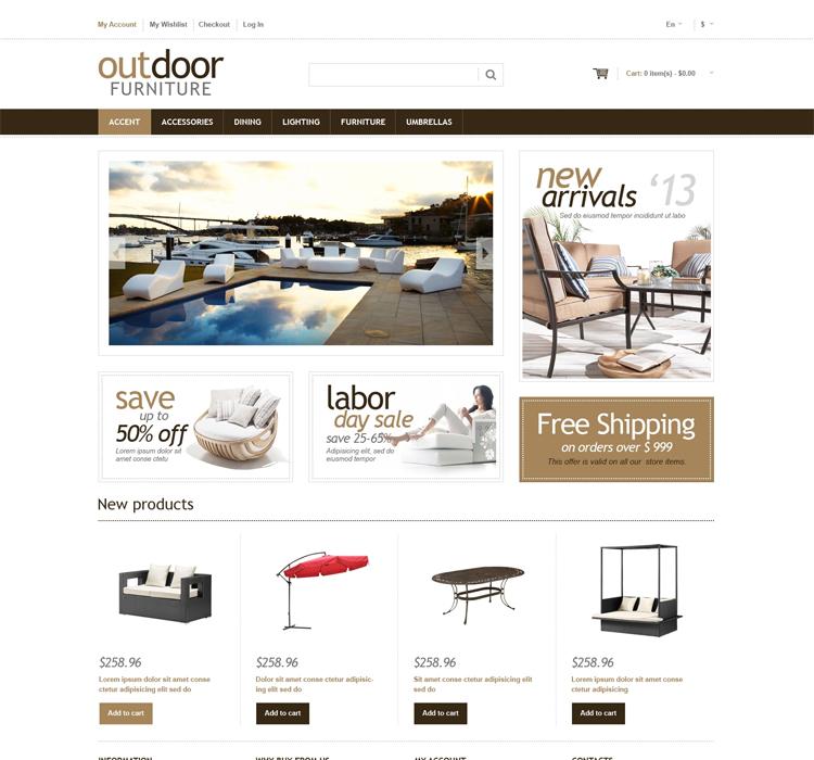 Multipurpose Magento Furniture Theme