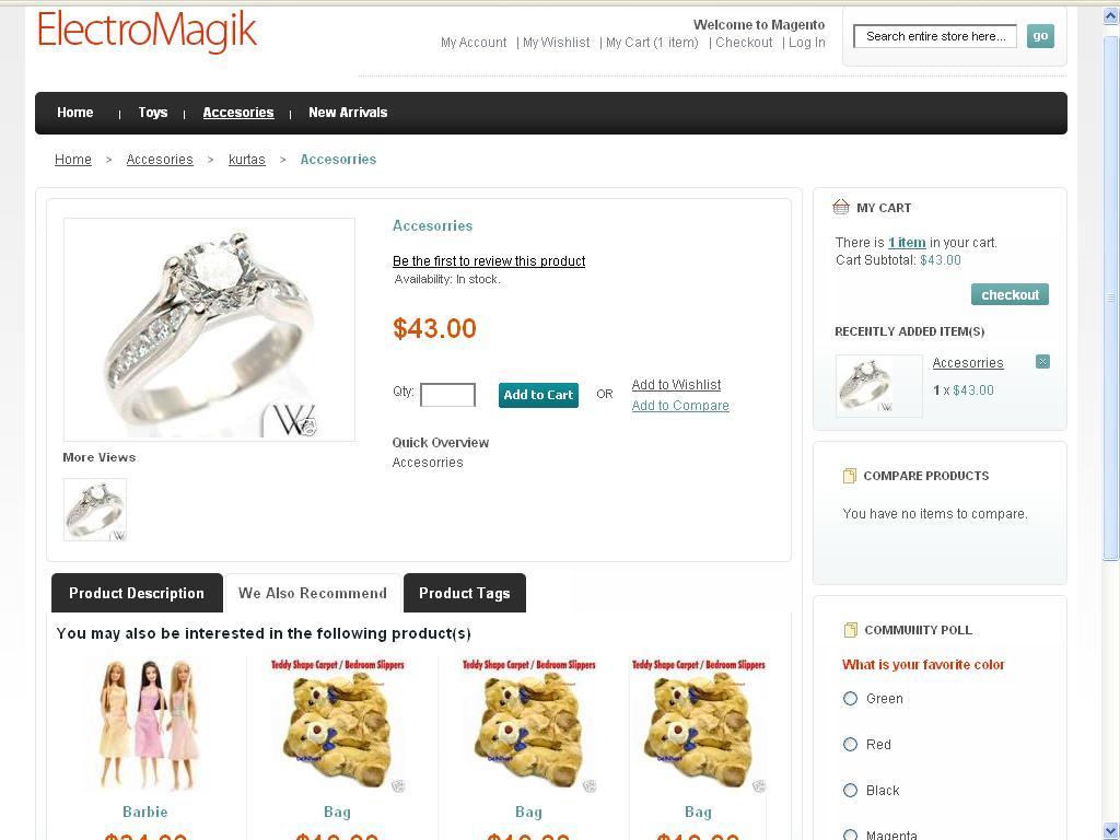 ElectroMagik Magento Theme - Product Detail Page