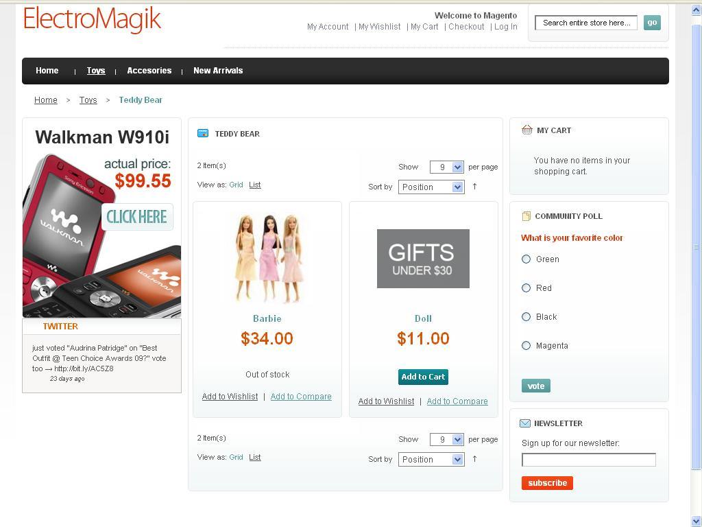 ElectroMagik Magento Theme - Product List Page