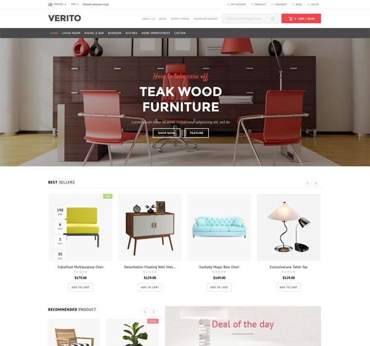 Multipurpose Responsive Magento Furniture Theme