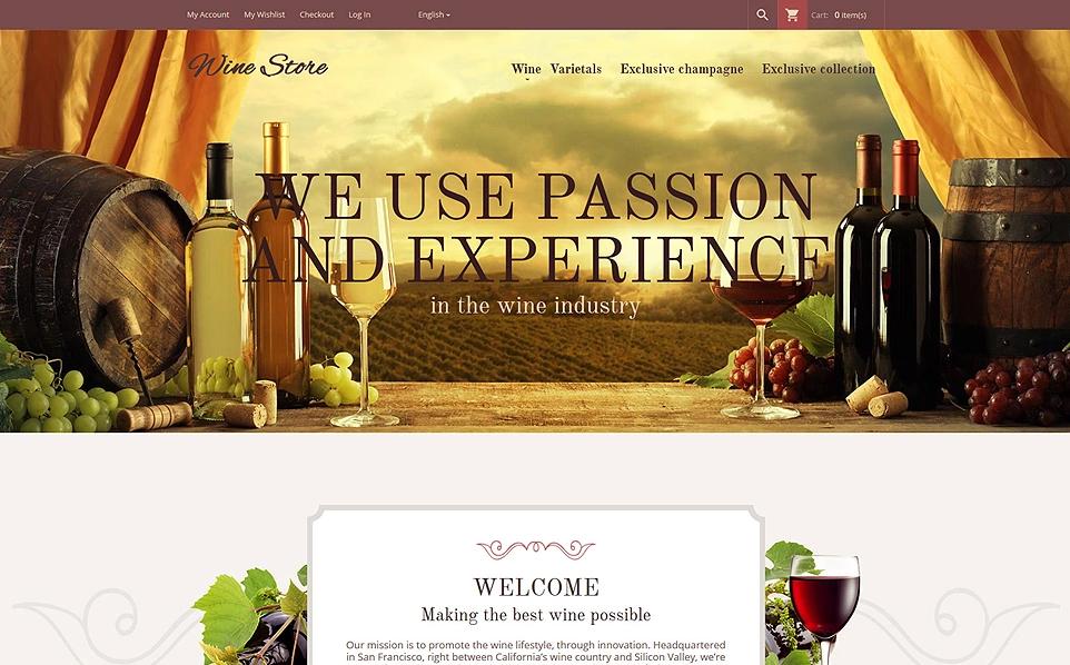 Wine Store Responsive Magento Theme
