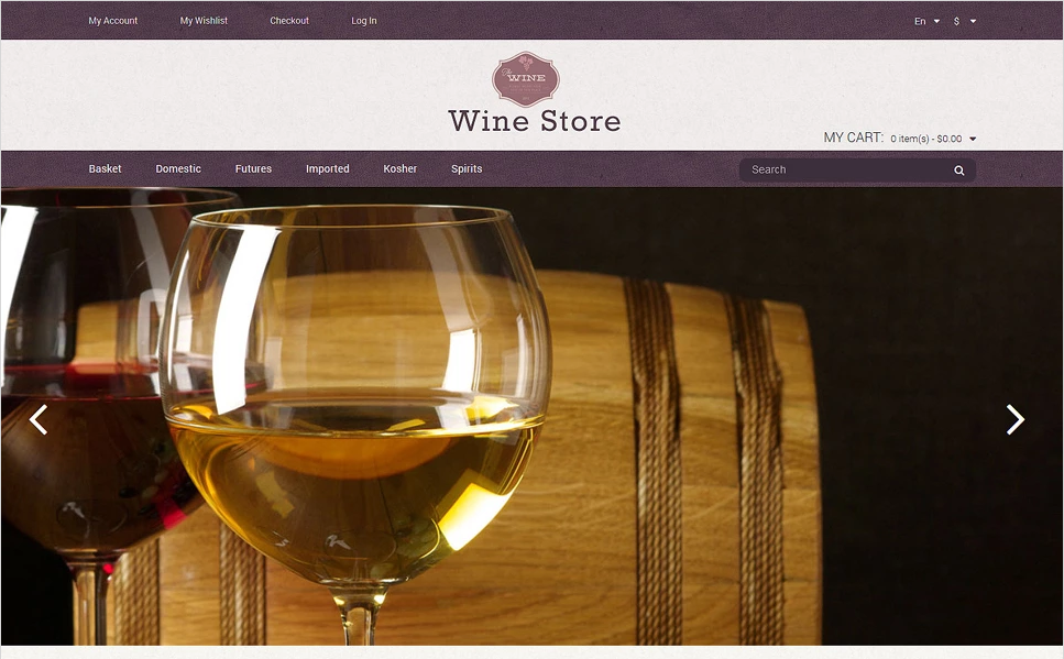 Wine Store Responsive Magento Template