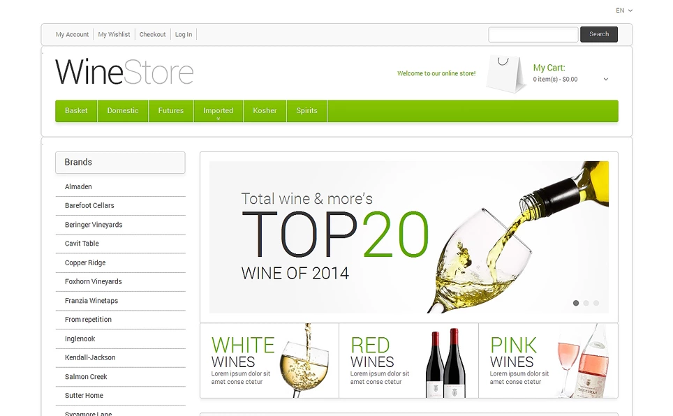 Wine Shop Magento Theme
