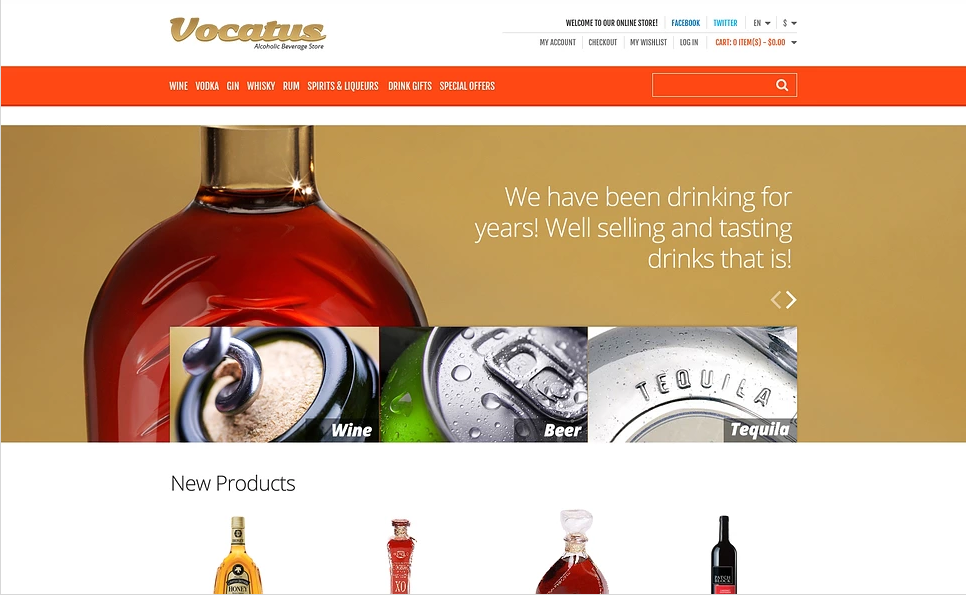 Spectacular Magento Wine Shop Theme