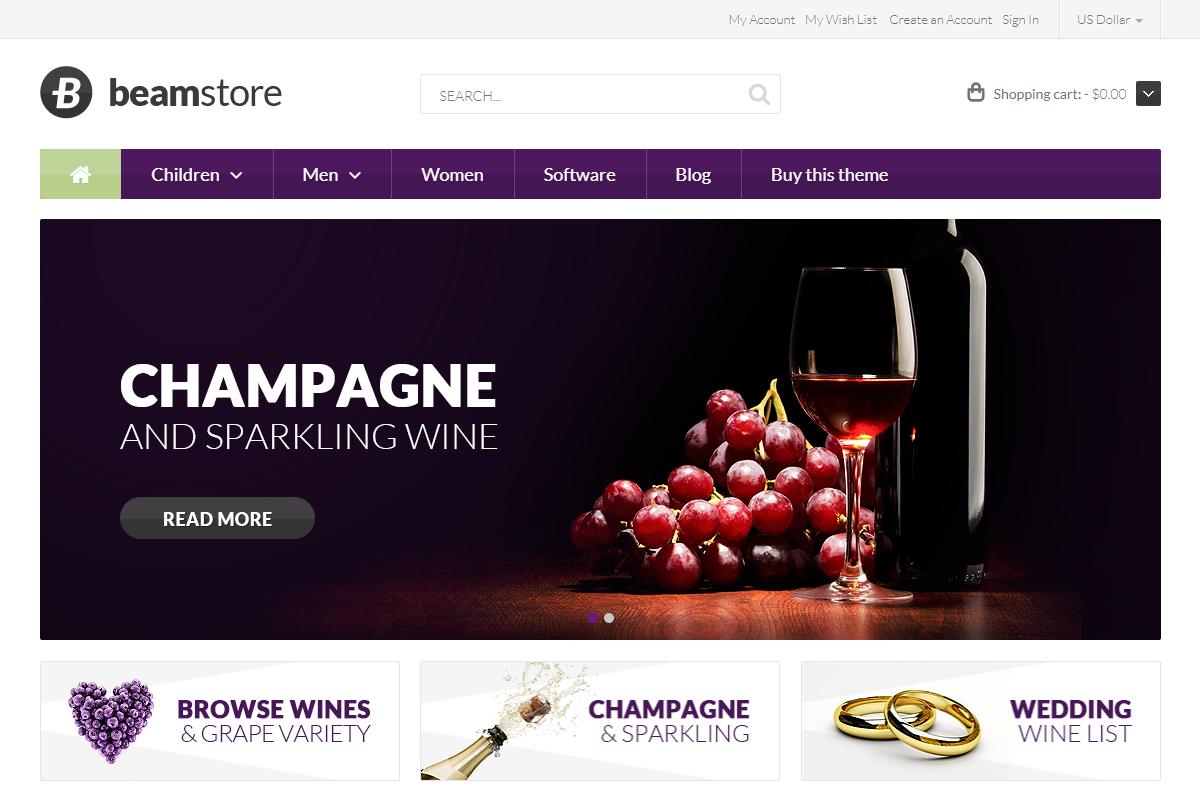 Responsive Magento Wine Theme