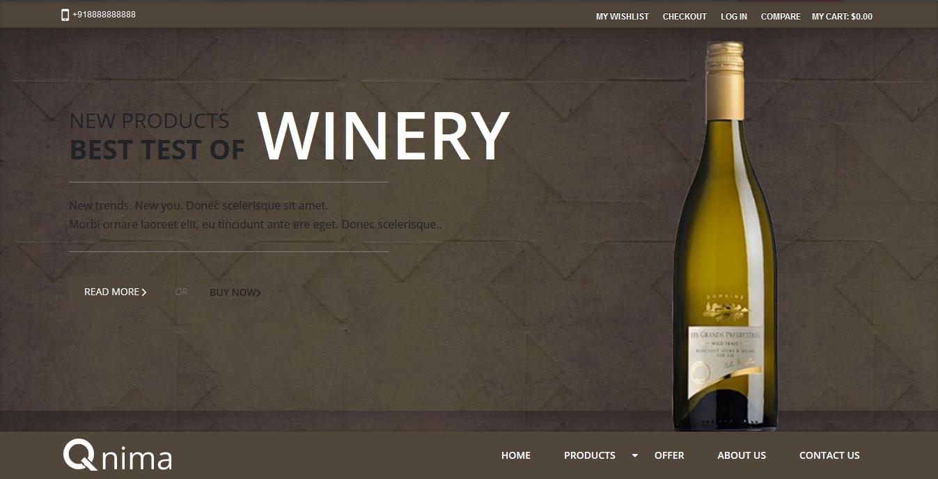 Premium Responsive Magento Wine Store Theme